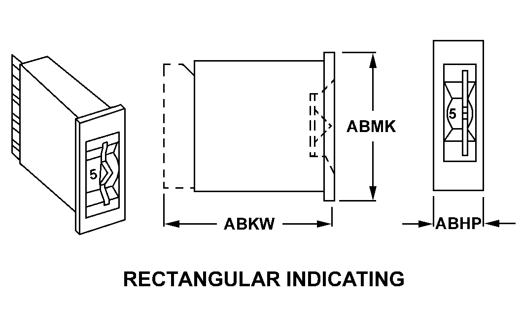 RECTANGULAR INDICATING style nsn 5930-01-152-4786